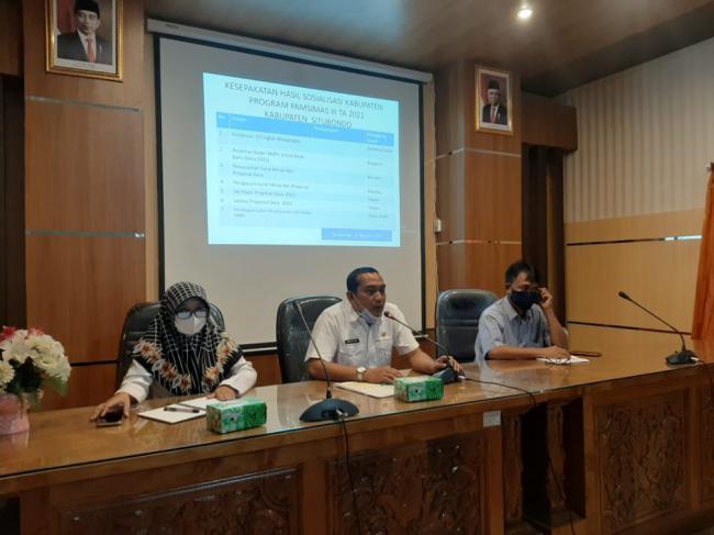 Sosialisasi kabupaten program PAMSIMAS III tahun anggaran 2021