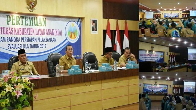 Pertemuan Gugus Tugas Kabupaten Layak Anak  dalam rangka Persiapan Pelaksanaan Evaluasi KLA Th. 2017
